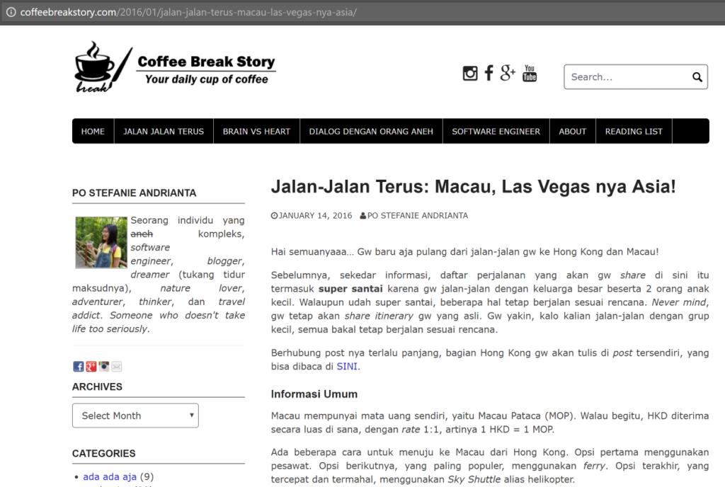 Artikel asli gw tentang Macau (Part 1)