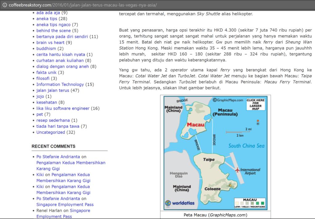Artikel asli gw tentang Macau (Part 2)