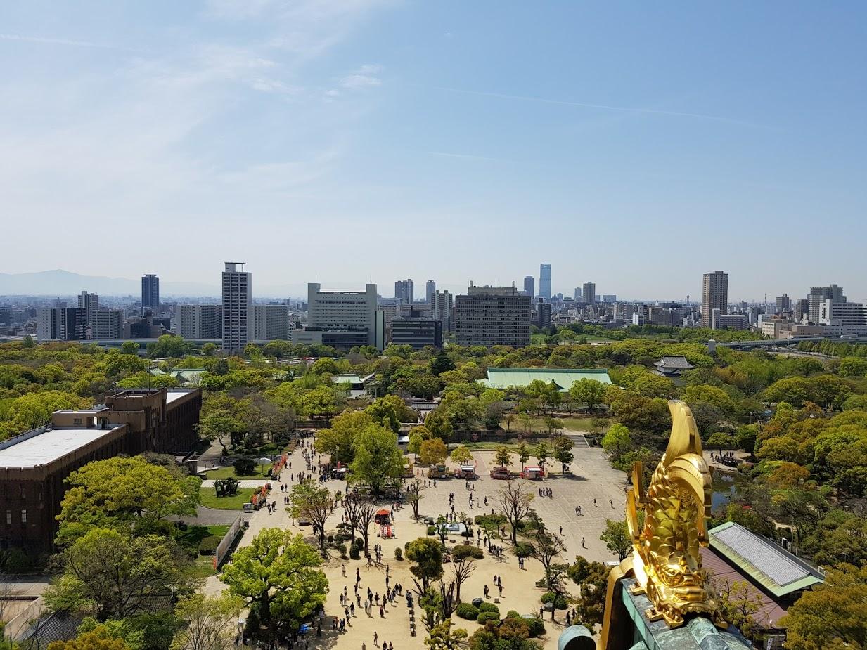 Pemandangan dari Osaka Castle Museum