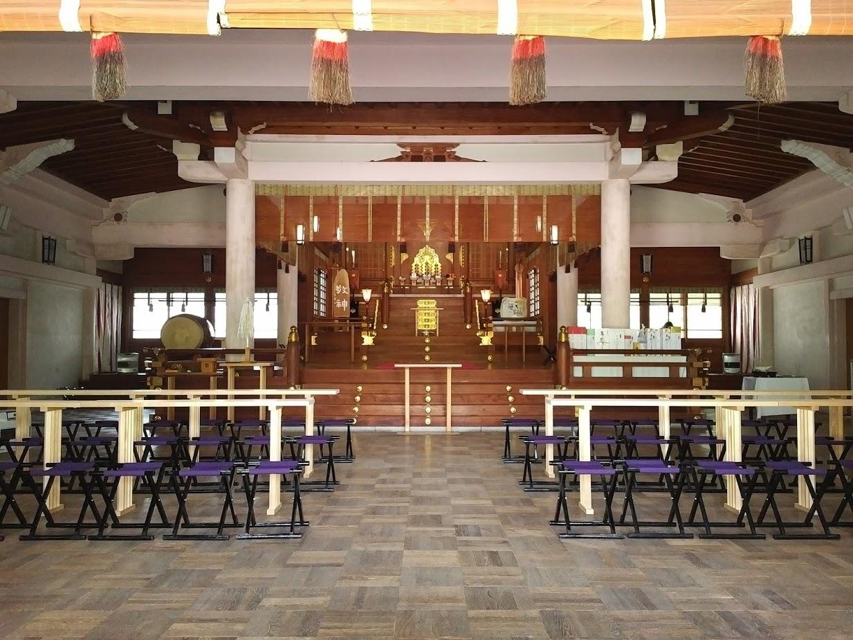 Altar di Hokoku Shrine
