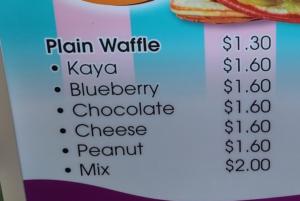 Menu Waffle Baru