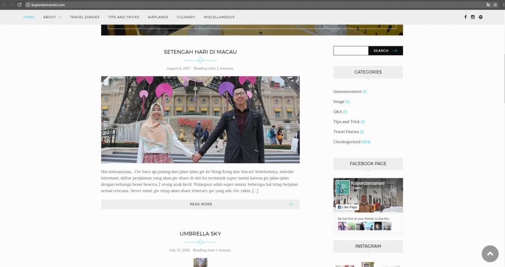Homepage si pencuri. Tertulis di situ kalo tulisan ini dipublish tanggal 6 Agustus 2017